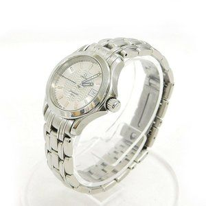 OMEGA SEA MASTER SILVER LADIES 25MM WATCH!!